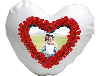 Perina personalizata in forma cu inima